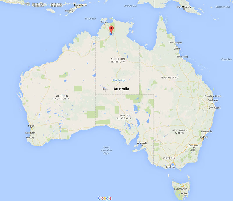 Map of Australia - where is Katherine